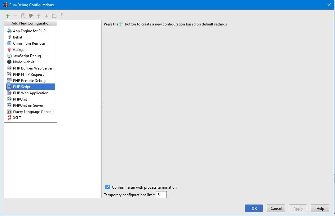 PHPStrorm editconfiguration 3 step